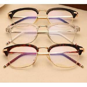 หลากสี!กรอบแว่นตาแฟชั่น เรโทร วินเทจ club thombr สลิม สีชา ดำเงา ดำด้าน กระ ขาวใส
