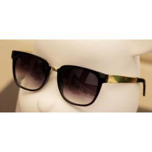 กรอบแว่นตากันแดด for people fran เรโทร วินเทจ แว่นตาฮิพฮอพ กรอบกึ่งโลหะแบบขาทอง (ดำทอง ดำตะกั่ว น้ำตาล)