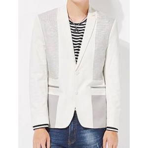 ฟรีถุงสูท!เสื้อสูทแฟชั่นปกเปิด ทูโทน สีขาว size No.35 37 39 41 43