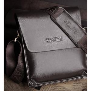 สีน้ำตาล ดำ!!กระเป๋าสะพายข้าง เฉียง เหลี่ยม PUหนังเงา สีน้ำตาล ดำ