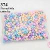 ลูกปัดพลาสติก สีพาลเทล หัวใจ คละสี 9มิล(1กิโล/1,000กรัม)