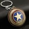 Bronze Captain America Keychain