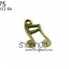 จี้ทองเหลือง ตัวโน๊ต 11X12 มิล (1ชิ้น)