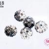 บอลเพชร เกรดดี 10 มิล ไล่สี สีดำ (1ชิ้น)