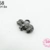 จี้โรเดียม สีดำ ลายแกะน้อย 5x14 มิล (1ชิ้น)