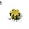 จี้ทองเหลือง รูปต้นไม้แบบรูข้าง 10 มิล (1ชิ้น)