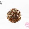 บอลเพชร เกรดดี 10 มิล สีน้ำตาล (1ชิ้น)