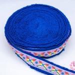 ผ้าแถบสีสด สีน้ำเงิน กว้าง 4.5ซม (1ม้วน/50หลา)