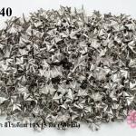 เป็กติดเสื้อ รูปดาว6แฉก สีโรเดียม 13X15 มิล (500ชิ้น)
