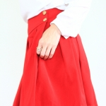 Red Kissed Skirt