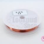 ลวดดัด สีทองแดง เบอร์ 0.4 (1ม้วน/10 หลา)