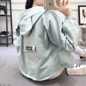 เสื้อผ้าแฟชั่นเกาหลีพร้อมส่ง - แจ็คเก็ตหูกระต่ายสีเขียวมิ้นน่ารัก ๆ