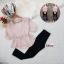 เสื้อผ้าแฟชั่นเกาหลีพร้อมส่ง - ชุดเซ็ตได้ 2 ชิ้น เสื้อชีฟองแขนศอก+สกินนี่ thumbnail 2