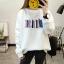 เสื้อแขนยาวแฟชั่นพร้อมส่ง เสื้อแขนยาวสีขาว แต่งสกรีนรูปหนังสือหลายเล่ม +พร้อมส่ง+ thumbnail 1