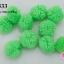 ปอมปอมไหมพรม สีเขียวตอง 3ซม (10ชิ้น) thumbnail 1