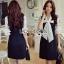 เสื้อผ้าแฟชั่นเกาหลีพร้อมส่ง - เดรสต่อแขนลายจุดเดรสผ้าโรนัลโด้เนื้อหนา งานสวยๆดีไซด์ล้ำๆ thumbnail 1