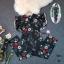เสื้อผ้าแฟขั่น - จั้มสูทลายดอกไม้ขายาว thumbnail 3