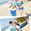 เสื้อคู่รัก ชุดคู่รักเที่ยวทะเลชาย +หญิง เสื้อยืดสีขาวลายคู่รักนอนตากแดด กางเกงขาสั้นลายพระต้นมะพร้าวโทนสีส้มฟ้า +พร้อมส่ง+ thumbnail 3
