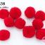 ปอมปอมไหมพรม สีแดง 3ซม (10ชิ้น) thumbnail 1